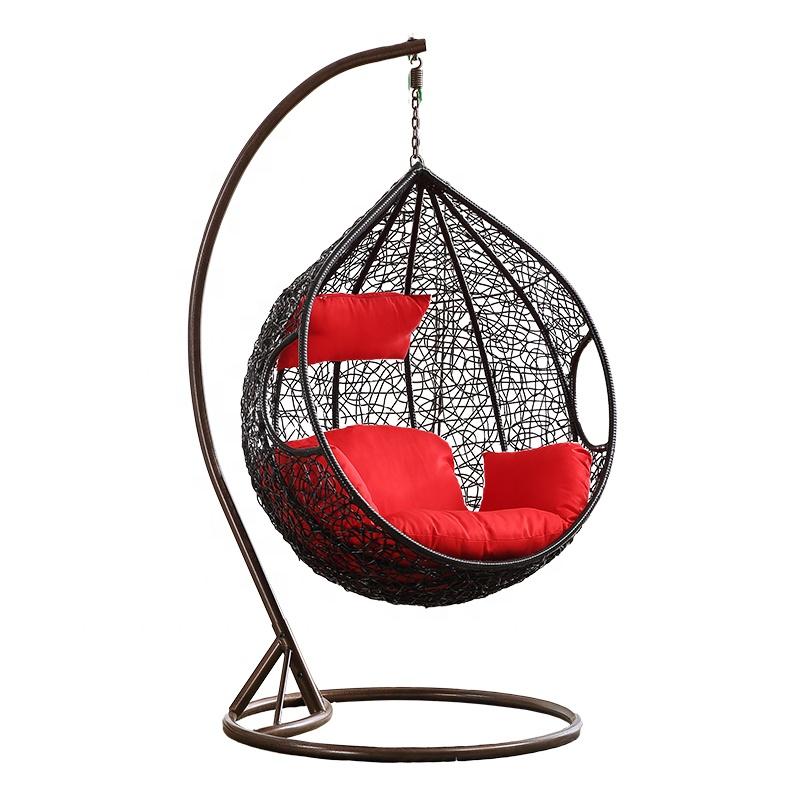 आउटडोर स्विंग कुर्सी रतन पानी बूंद के आकार फांसी कुर्सियों