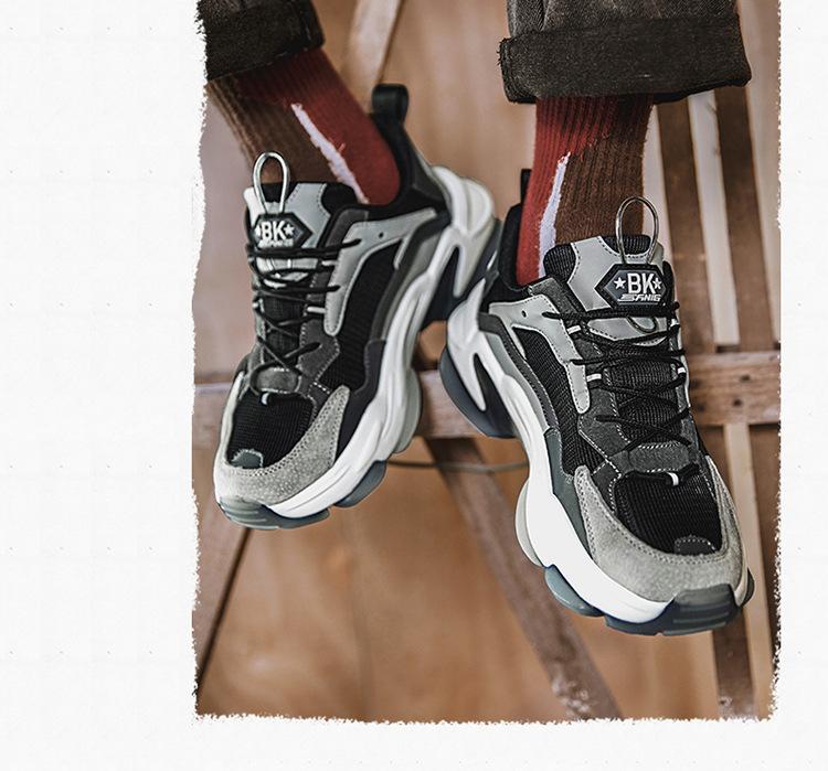 Doublure maille grise, chaussures épaisses de couleur rouge, mode 2020