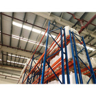 Decoration & Household Warehouse Blue and Orange Selective Pallet Racking