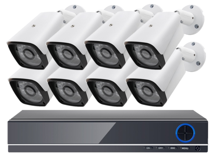 8ch 5MP 4k di sicurezza CCTV Telecamere IP Kit di trasporto casa intelligente software di sistema