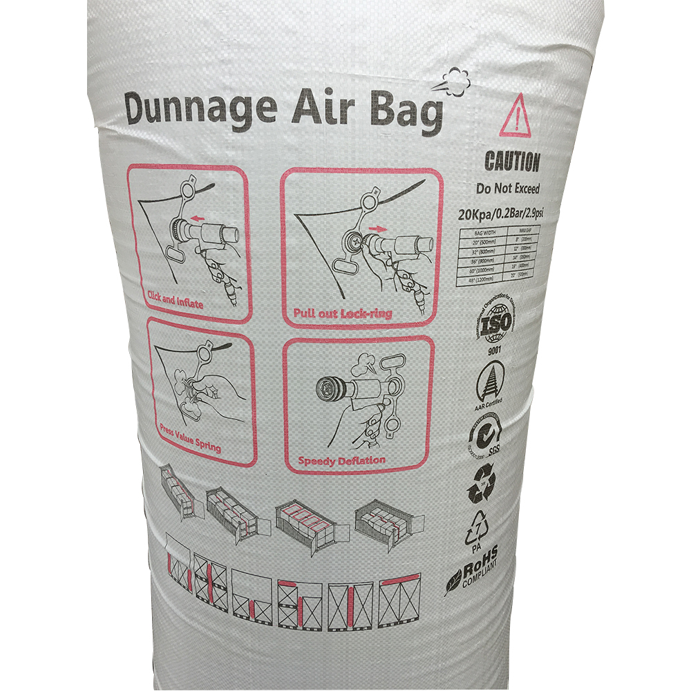 Wholesale 80x180cm PP Woven Air Inflatable Bag Dunnage Airbags Valve for Container Loading