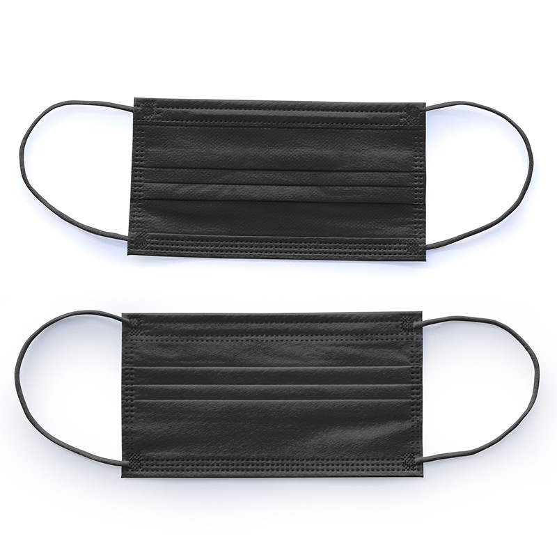 Mask Manufacturers Sell Large Quantities Of High-quality 3 Ply Disposable And CE Certified Black Protective Facemask