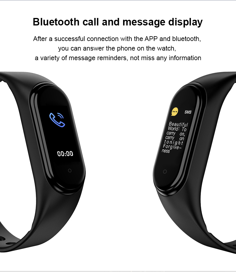 In Stock Factory Price M5 Smart Bracelet Heart Rate Pedometer Smart band watch M5 Smart watch
