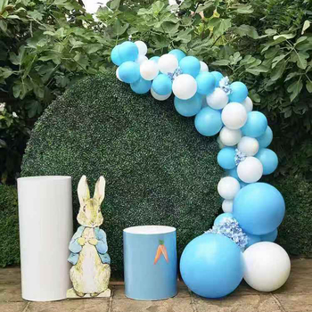 Luxury Green Round Grass Wall Backdrop For Wedding Or Baby Shower