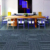 Block PP rugs carpets living room, 50x50cm square carpet floor, Non-slip wall to wall hotel carpet