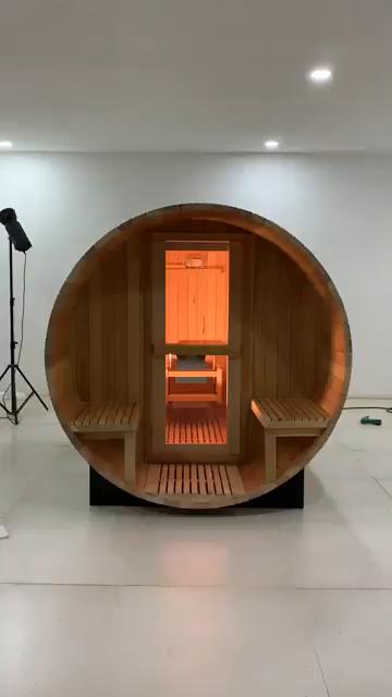 2020 populaire Offre Spéciale Sauna extérieur baril solide bois bois sauna humide vapeur sauna salle