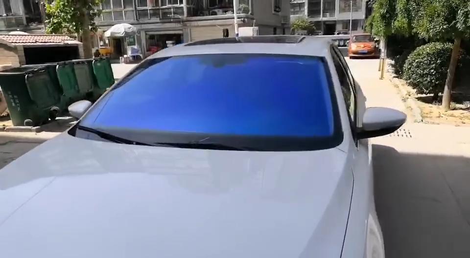 Premium high thermal performance 2.0 Mil chameleon blue mirror car window tint
