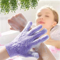 Exfoliating Dual Texture Bath Gloves for Shower, Spa, Massage and Body Scrubs,