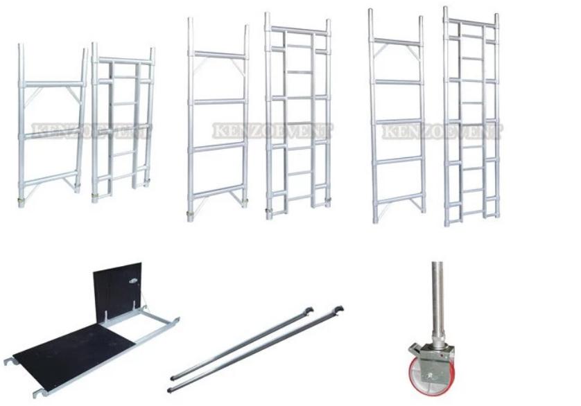 Aluminum construction mobile climb ladder scaffolding for sale