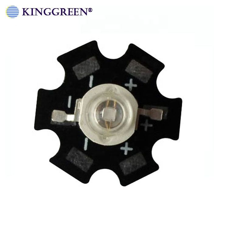 High power 1W royal blue 450-460nm led light source with 20mm aluminum plate