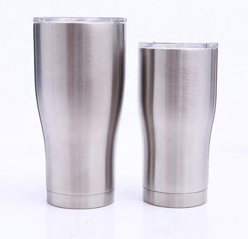 Modern curve custom travel Vacuum Insulated wine Double Wall tumbler cups 30 oz stainless steel tumbler with lid