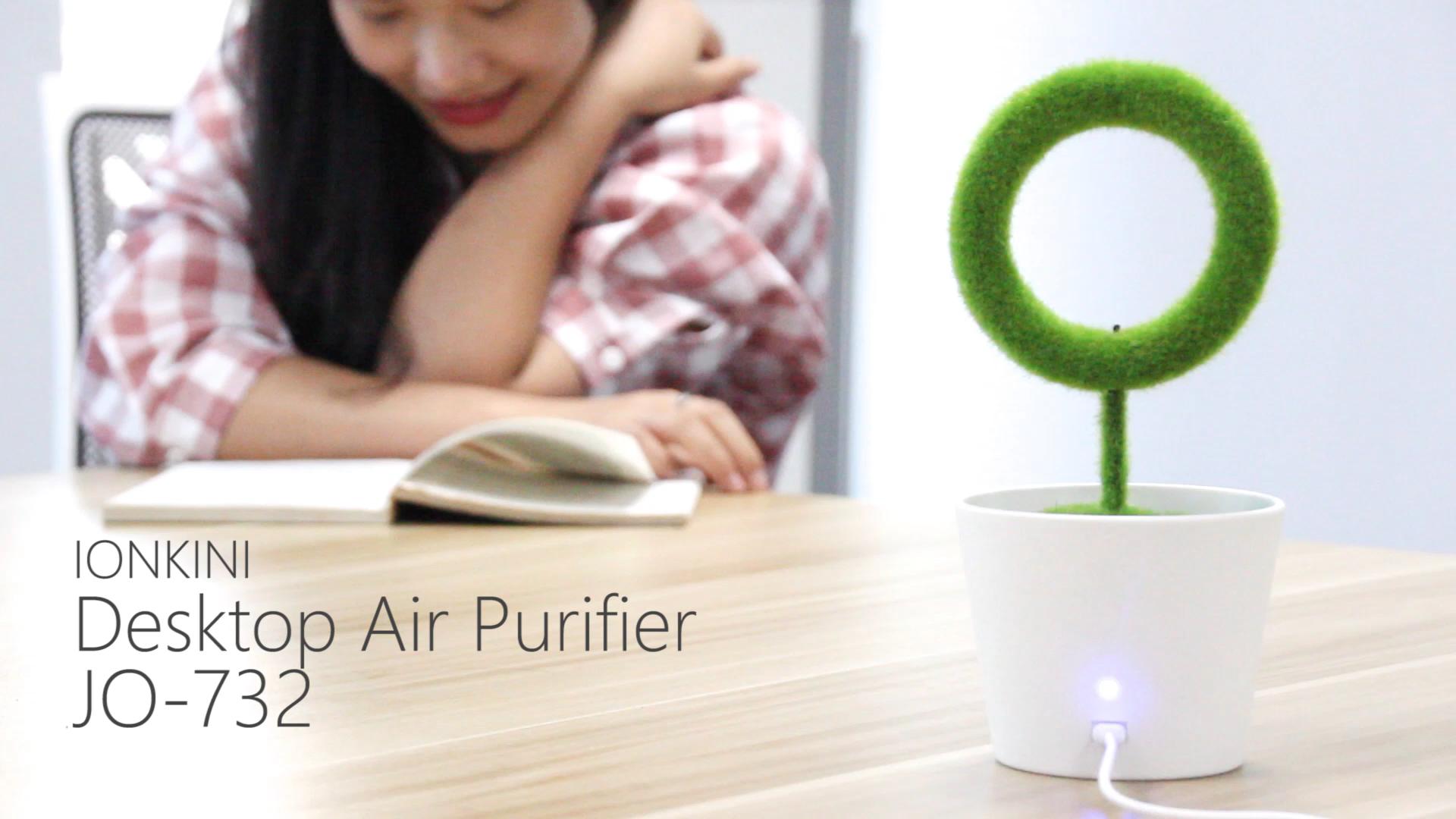 Ionkini JO-732 Indoor Decorative Bonsai Green Plant Office Air Purifier