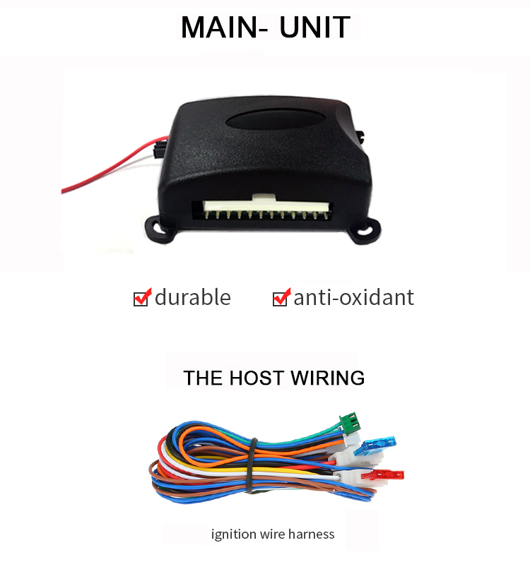 공장 도매 범용 433/315mhz 쉬운 설치 점화 알람 자동차 및 열쇠가없는 항목 기능 문어 자동차 알람 시스템