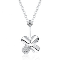 Ms S925 silver contracted fashion a clover chain necklace