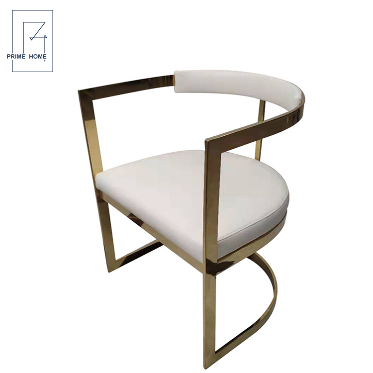 Cheap Chair Stainless Steel Banquet Chair, New Arrival White Metal Frame Chair