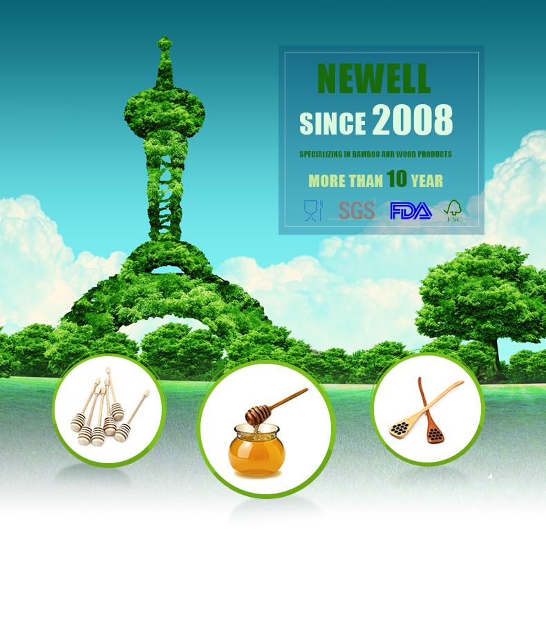 Newell Serving Jar Popular Long 11cm Household Hexagon Candy Jar Honey Stick For Use