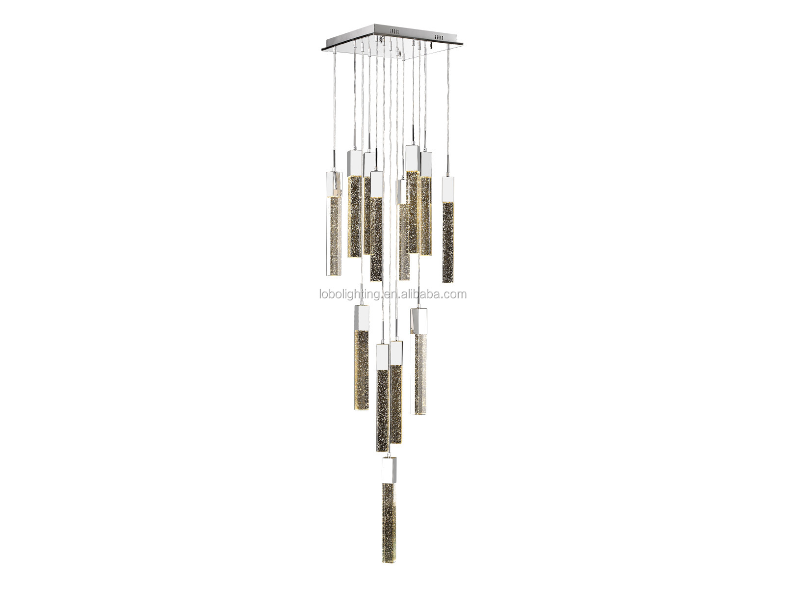 Modern classic black Nordic crystal chandelier for home and hotel crystal lamp