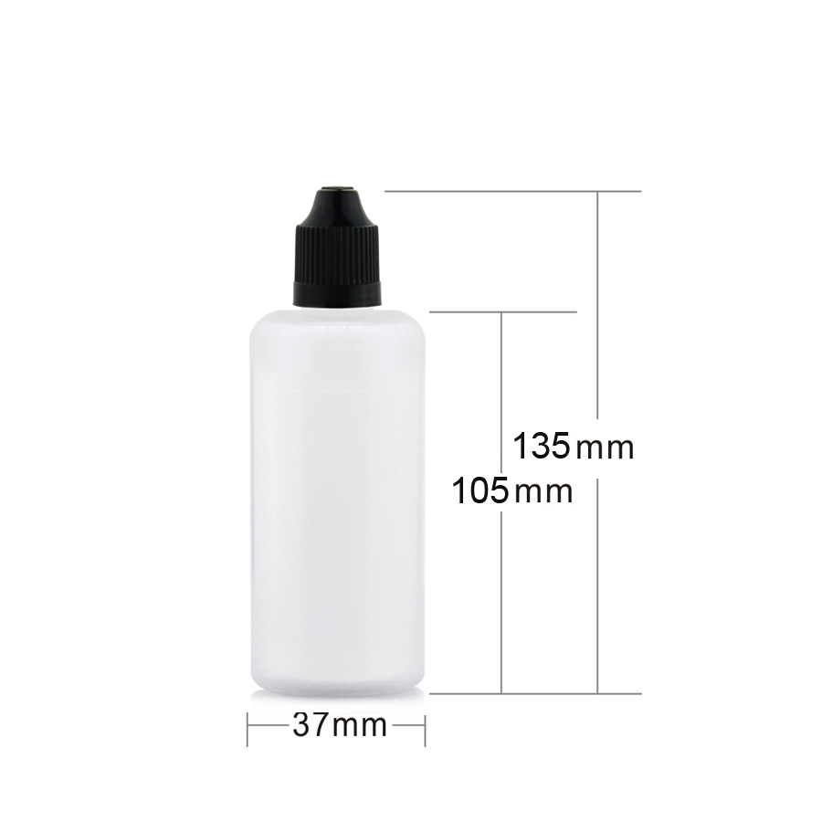 100ml shampoo e juice pe plastic bottle with childproof cap