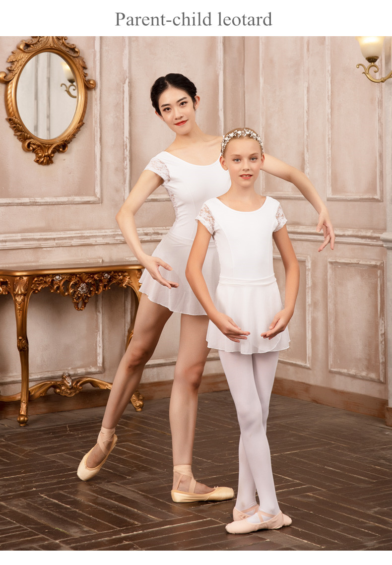 119141032   The Hot Selling OEM  ODM White Girls  Ballet Leotards Adult
