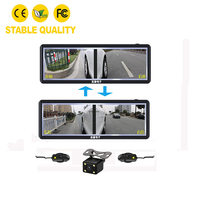 M4 rear view mirror dual 5 inch display screen with reverse car camera