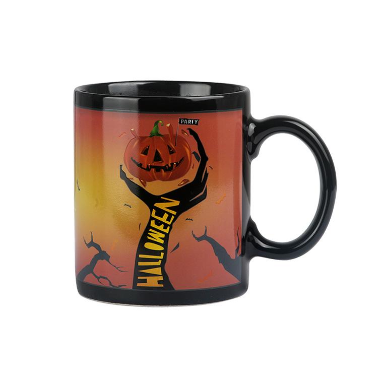 Souvenir Individuelles Logo Personalisierte 11 unzen Farbwechsel Kaffee Sublimation Blank Magie Keramik Becher