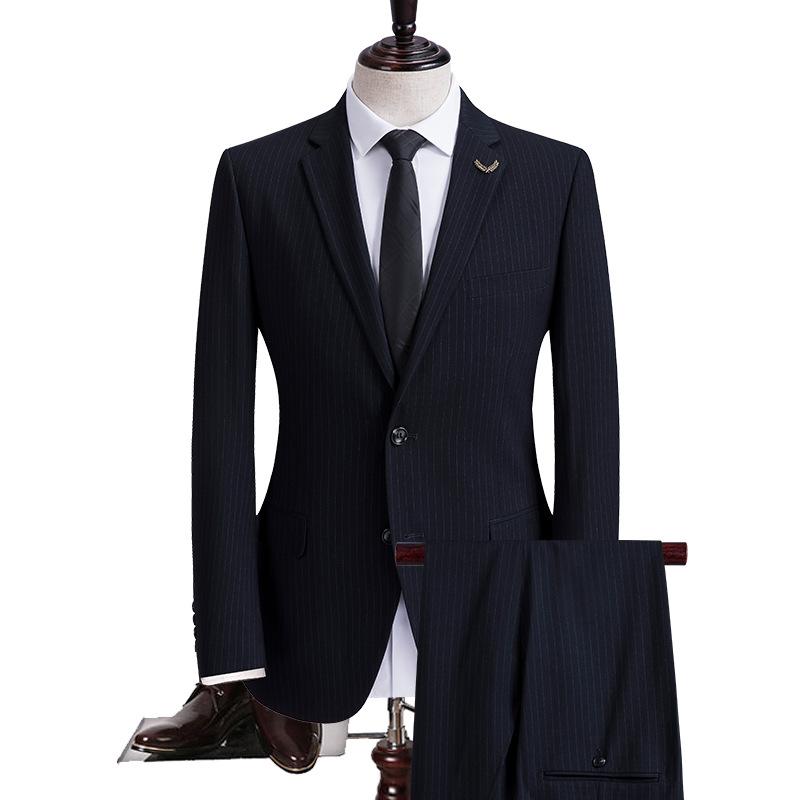 Navy Groom Wedding Suit Formal Business Mens Suits 2020