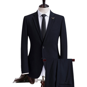 Navy Groom Wedding Suit Formal Business Mens Suits 2020