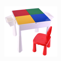Plastic DIY Assembly educational learning Toys building blocks table