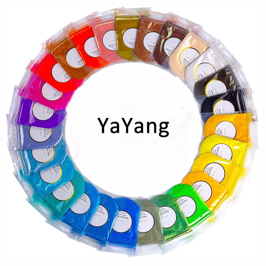 25 renkler yüksek kaliteli doğal dudak parlatıcısı mat sabun yapımı için mika tozu reçine göz farı boya epoksi epoksi mumlar