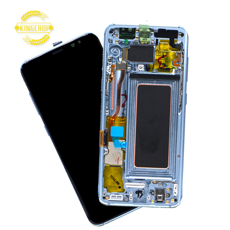 Amoled Original for Samsung mobile Phone touch screen for Samsung Galaxy S8 Plus <strong>LCD</strong>, For Samsung S8+ G955F G955 <strong>LCD</strong> with frame