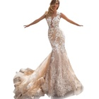 OEM Service Wedding Dress Bridal Dresses Gowns 2019 Crystal Design Wedding Dress Bridal Gown Champagne Prom Dress Mermaid Wedding Dresses
