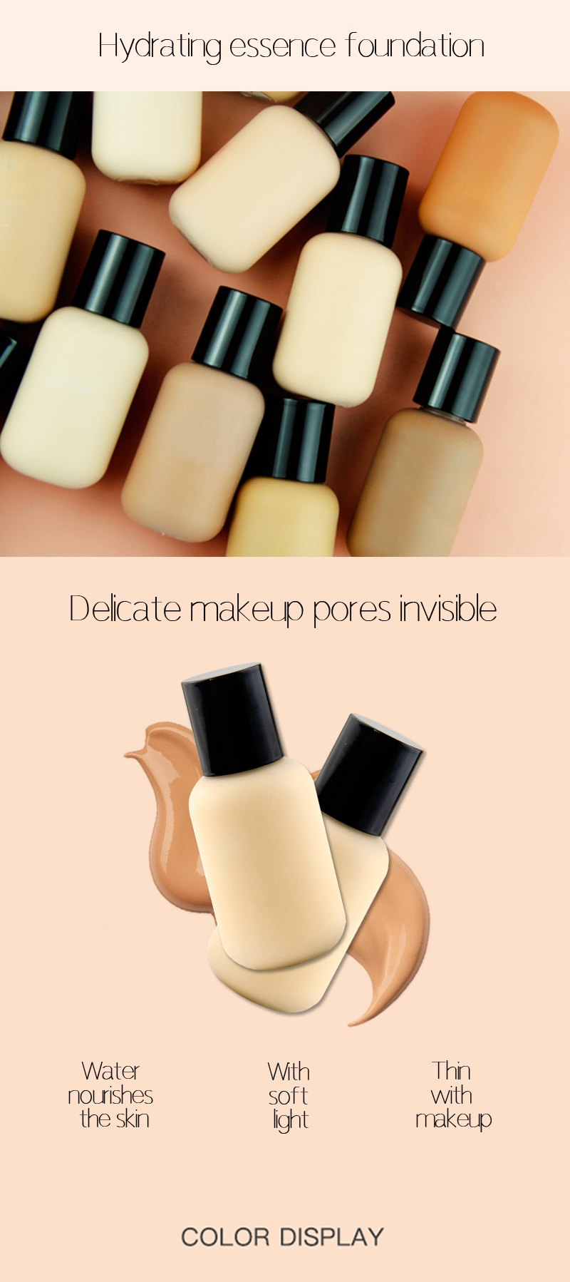 Make up oil control matte liquid foundation waterproof full coverage foundation private label