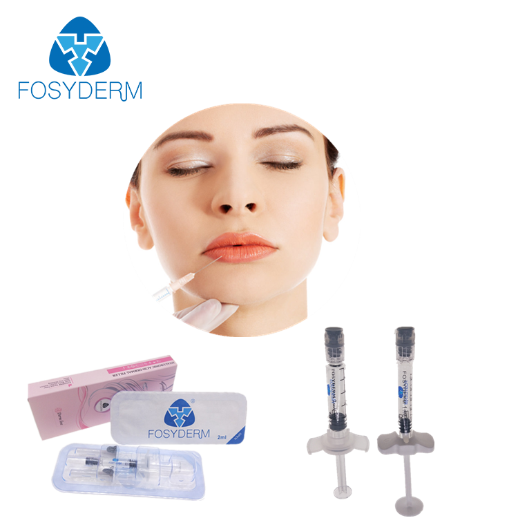 Alibaba.com / Fosyderm 2ml Lip Injection Hyaluronic Acid Syringe Gel Injectable Dermal Fillers Lips Care