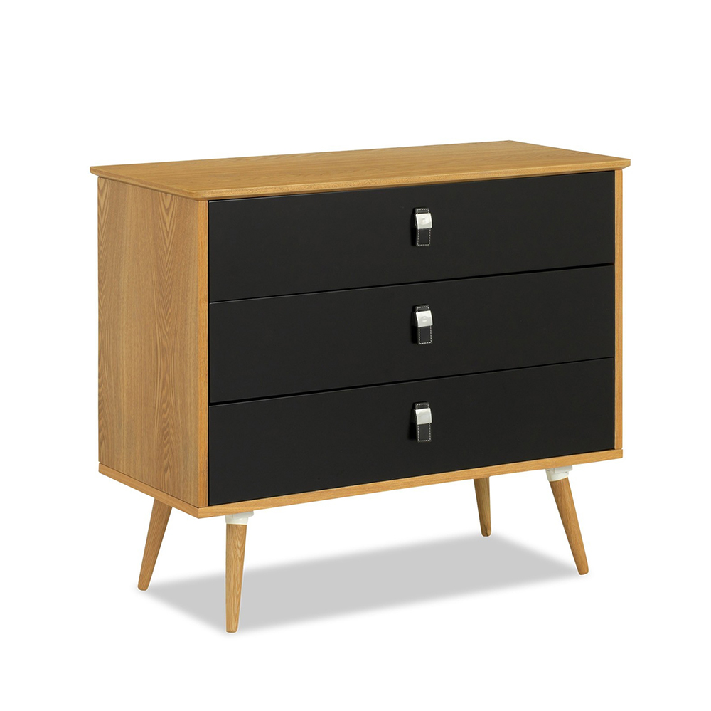 Wholesale Bedroom Furniture Black Vintage Cheap Small wooden modern chest of drawers from china factory