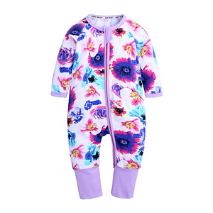newborn footie pajamas infant toddler organic cotton zipper rompers baby hand cover onesie jumpsuit