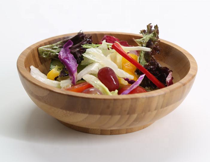 Bamboo Fruits Wood Salad Bowls MSL Details