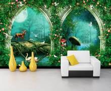 3d фотообои на заказ, римская колонна, двойная дверь, Европейский узор, гостиная, фиолетовая фантазия, ТВ, фон, настенная бумага 3d(Китай)