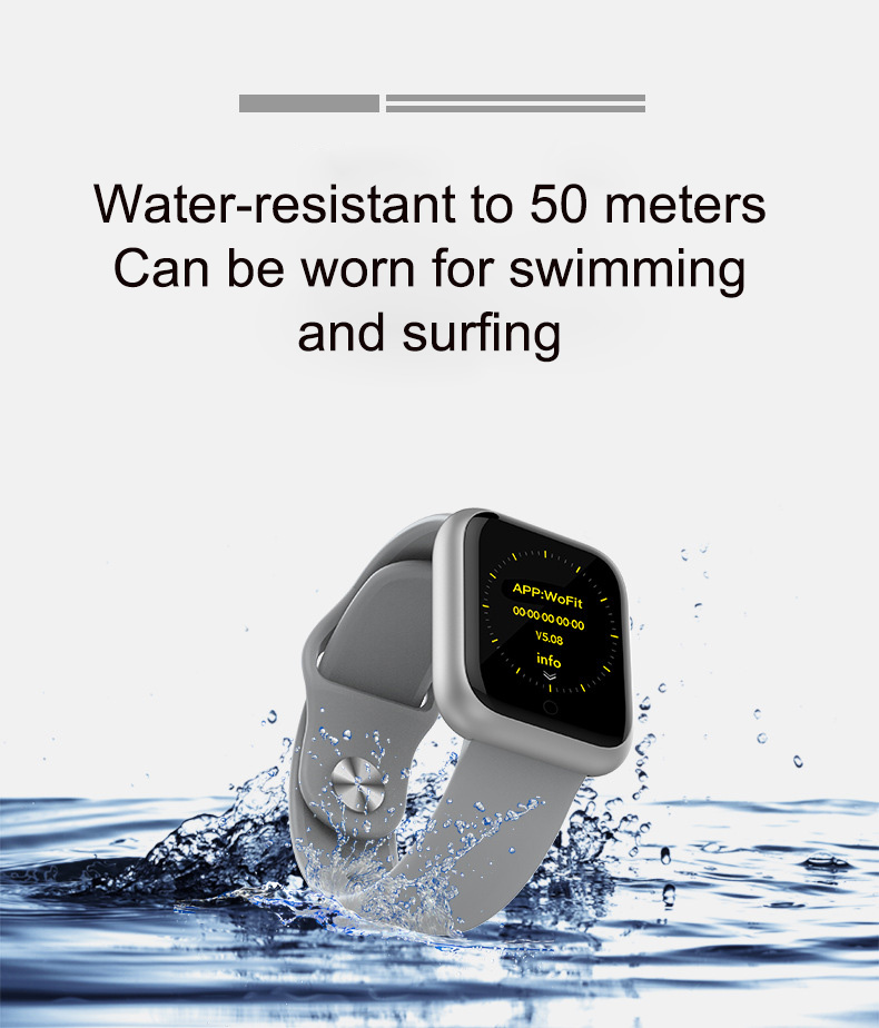 High quality GT1 ultra long standby 50 meters waterproof multifunctional smart bracelet smart watch