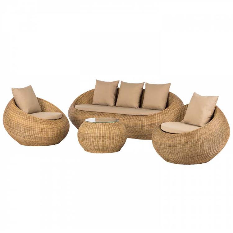 Cheap Patio Rattan Furniture Garden Couch Set Wicker Lounge Modern Outdoor Sofa