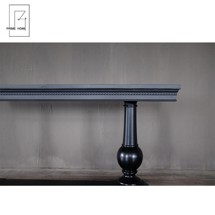 New Design Living Room Furniture Wooden Side Table, Hot Sale Black Stain Console Table