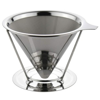 Hot sales worldwide Stainless Steel Coffee Filter Cone/Clever Coffee Dripper /Drip Coffee Maker with Holder