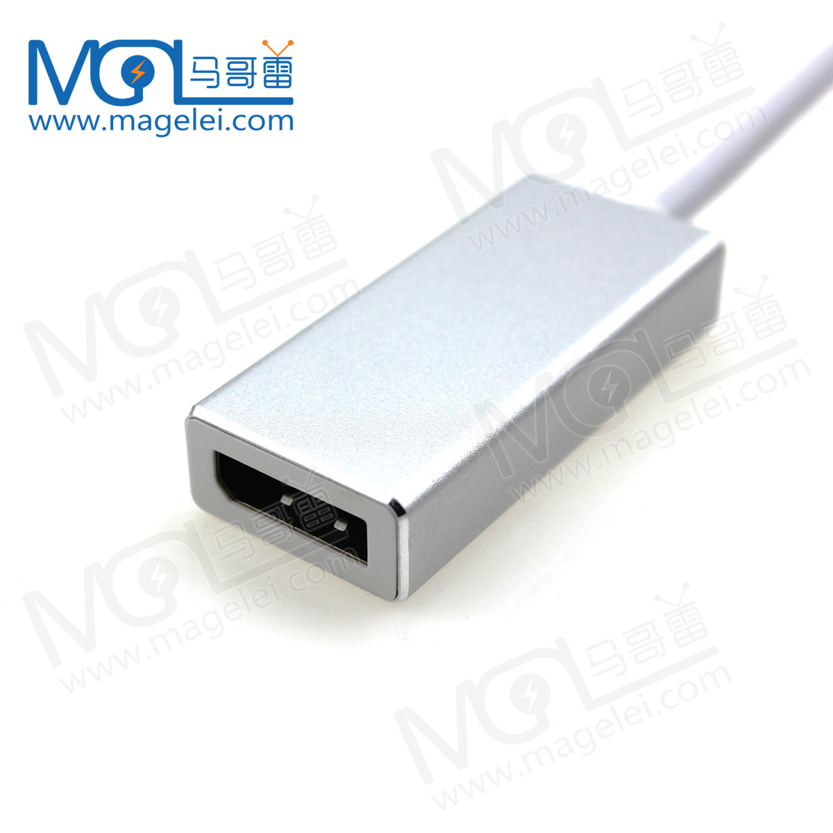 Gold Aluminum Alloy USB C to DisplayPort Adapter USB 3.1 Type C to DP Adapter converter
