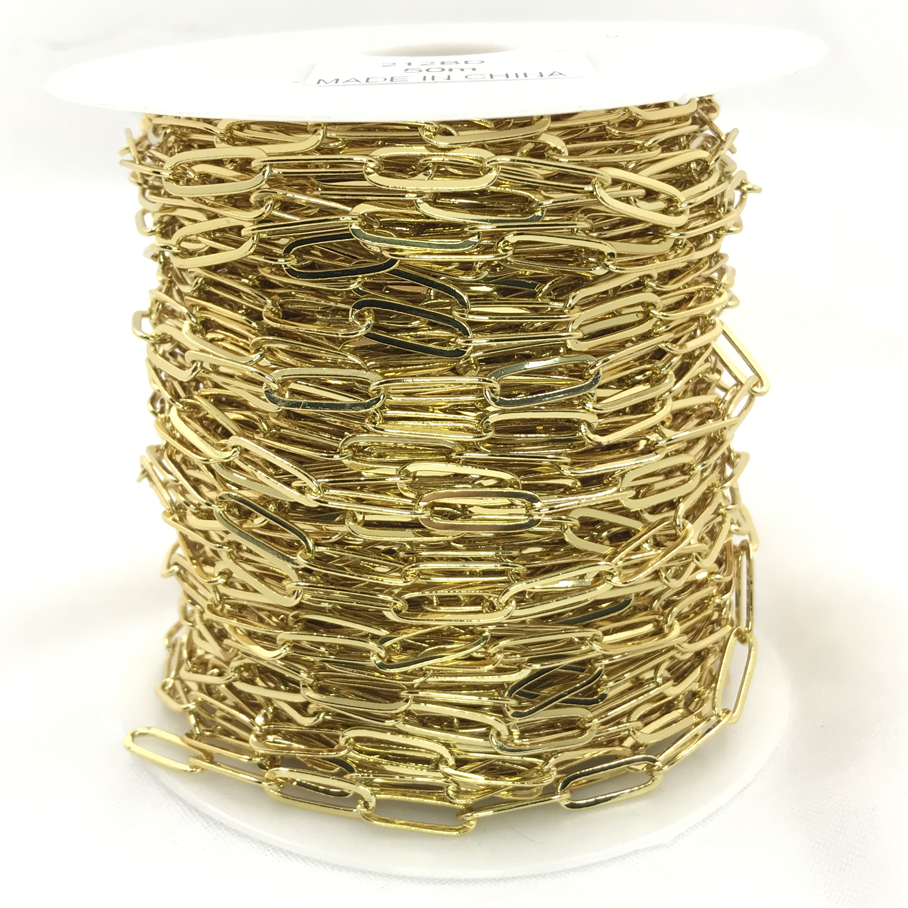 Wholesale High quality copper 24k gold plated chain roll brass chain for jewelry making