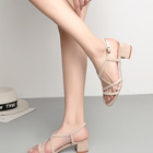 Summer Sexy Women Shoes Chunky High Heel Sandals For Ladies