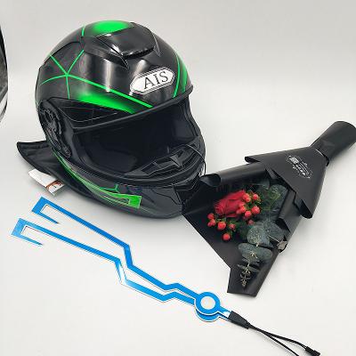 Más deslumbrante de impresión de Color de tamaño personalizado noche peatonal casco EL cinta casco de la motocicleta para la motocicleta