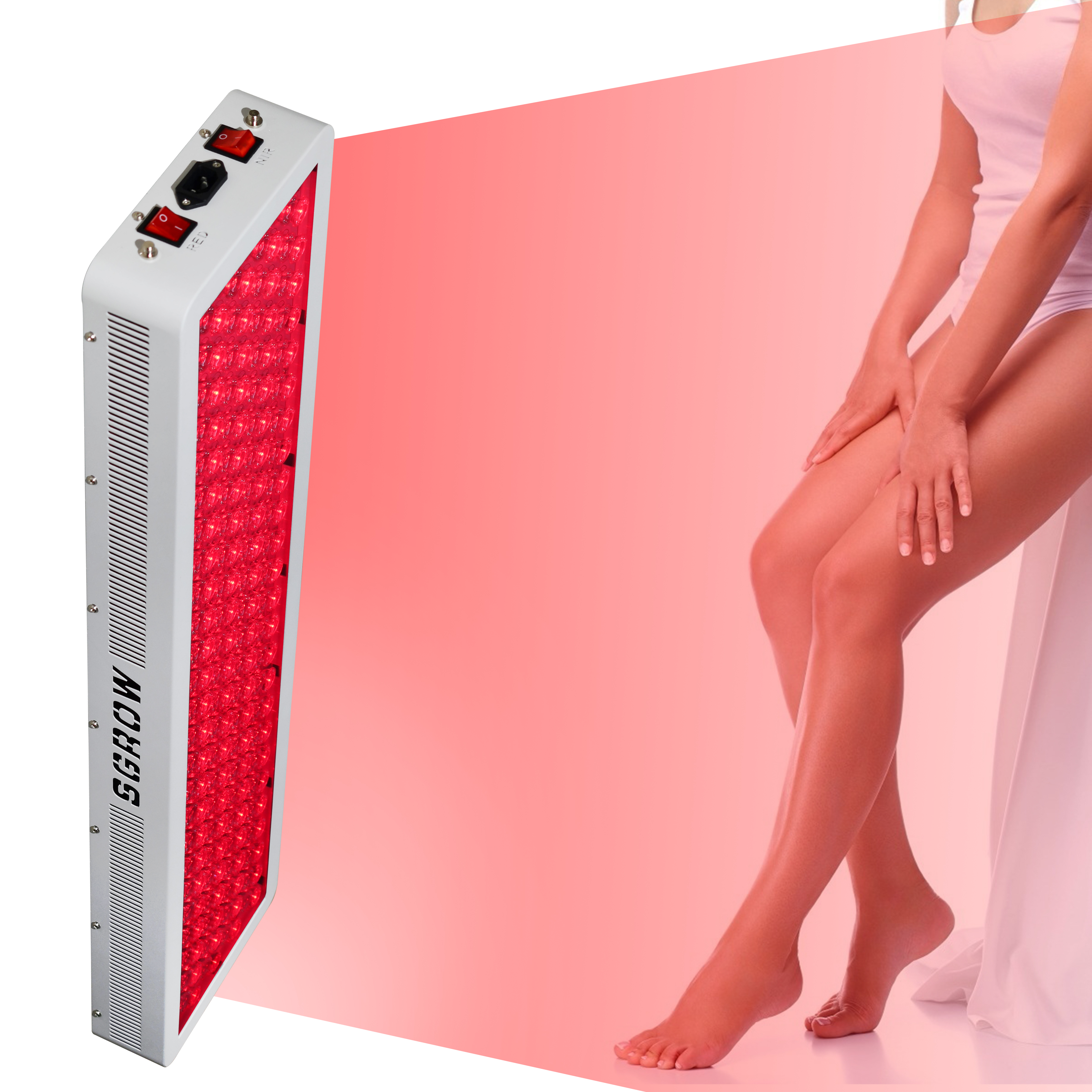 SGROW Factory Wholesale BIO VIG1000 660nm 850nm 1000W Full Body Red Light Therapy Panel