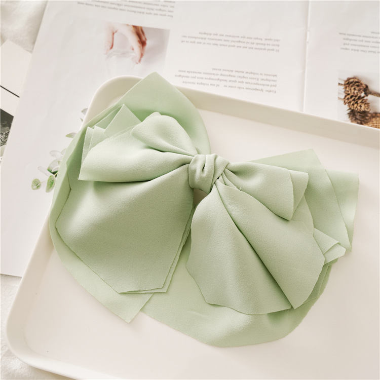 Retro big bow spring hair clips fashion macaron bow spring hair clip hair accessories women