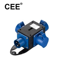 CEE plug and socket 230V 32A 2P+E multi-function socket outlet multi way adaptor