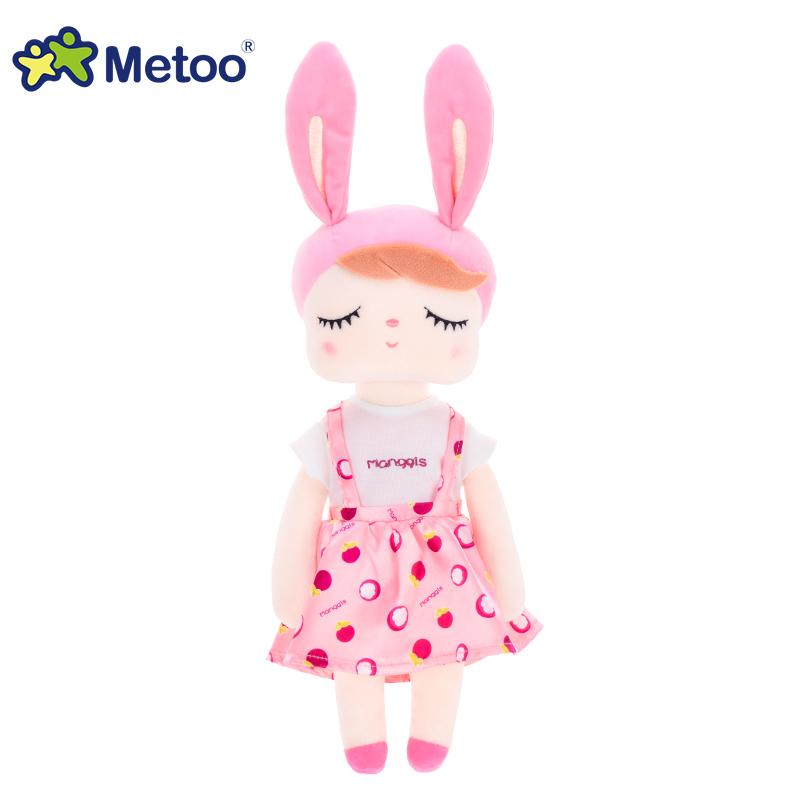 Metoo Плюшевые и набитые милые животные кролика для детей, детские игрушки, кукла ангела для девочек, подарок на день рождения, рождественский ...(Китай)