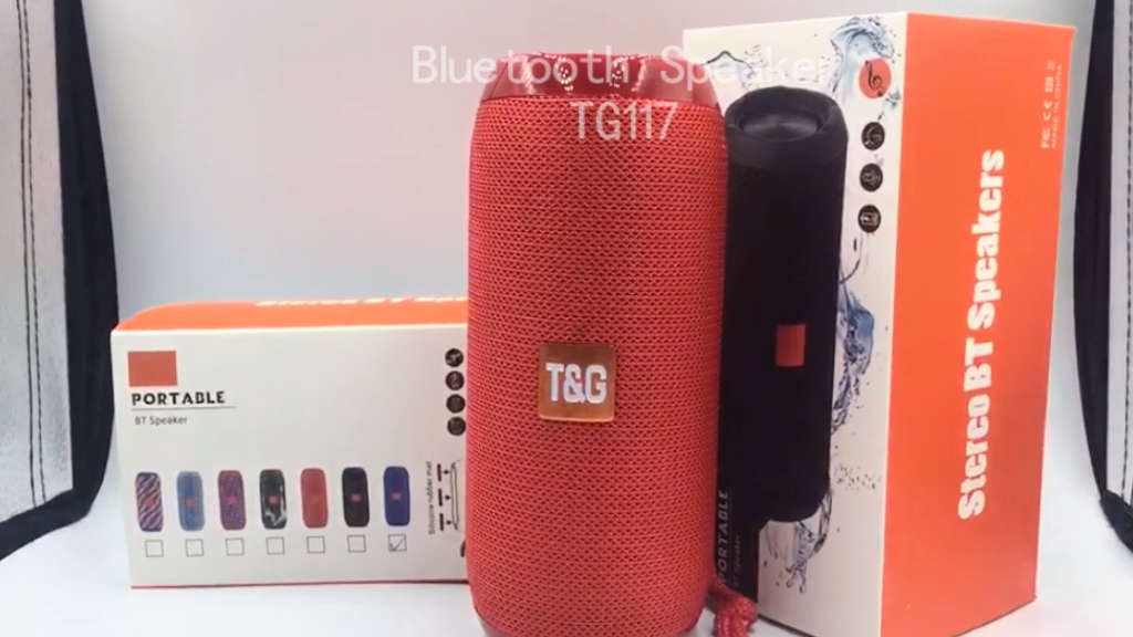 Shenzhen Lieferant Niedrigen Preis Subwoofer Stereo TG117 Wireless Outdoor Sport Tragbare IPX7 Wasserdichte Bluetooth Lautsprecher